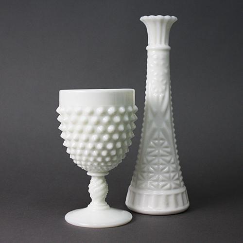 k18 ミルクガラス カップ412