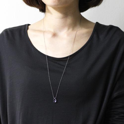 siki(シキ) 石の雫 ネックレス/アメジスト 01